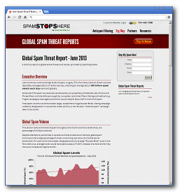 Global Spam Report - June 2013