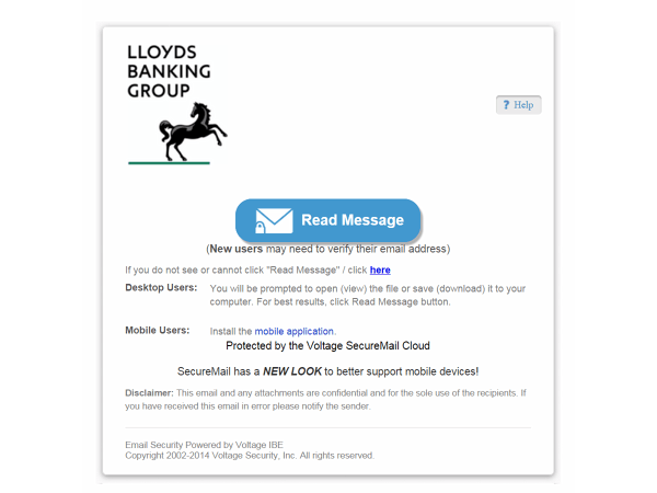 Phishing Spam Alert - Lloyds Bank - September 2014
