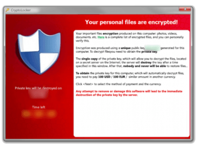 Spam Ransomware CryptoLocker