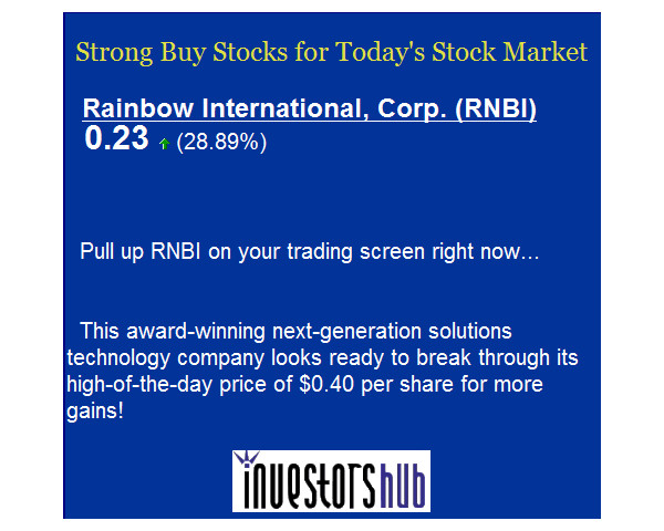 Penny Stock Spam Alert - RNBI Pump and Dump Scheme